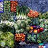 Egészséges egzotikus zöldségek az asztalon